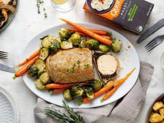 cranberry and orange christmas quorn roast vegetarian sunday roast recipe
