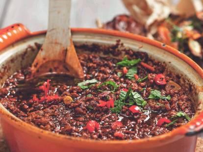 Texaschili med Quorns lakto-ovo-vegetariska färs - recept
