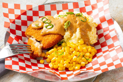 Country-Fried Meatless Patty Steak