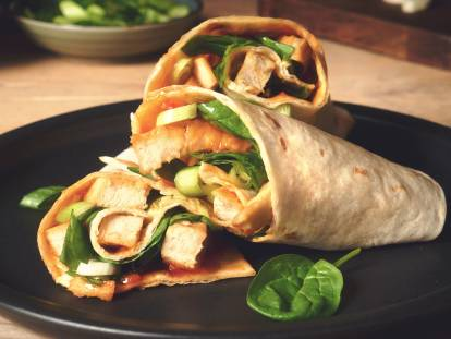 Sweet Chilli Wraps with Quorn Roasted Sliced Fillets