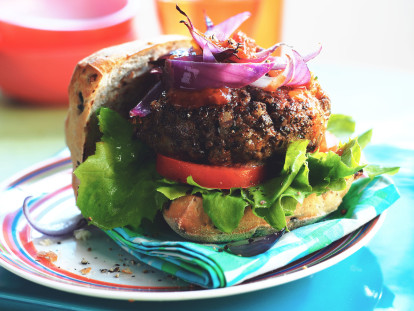 Rezept für vegetarische Burger mitKäse