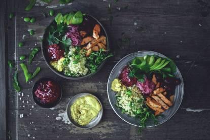 Quorn bowl med grillade filéer med chili & lime