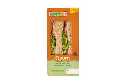 Vegetarian Deli-Style Ham Salad Sandwich
