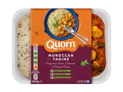 meat free quorn moroccan tagine ready meal