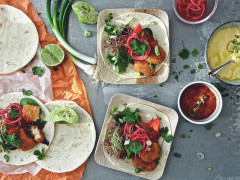 Tex-Mex-Tortillas mit veganen Nuggets