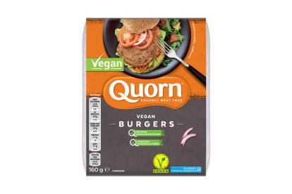 frozen quorn vegan burgers