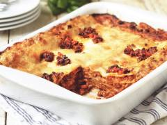 Recept på lakto-ovo Vegetarisk Lasagne