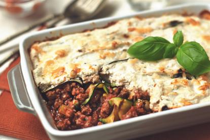 Lasagne med Quorn-farse og squash
