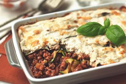 courgette & quorn mince lasagne recipe vegetarian recipe