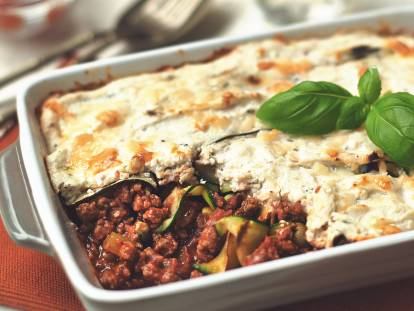 Zucchini and Quorn Grounds Lasagna