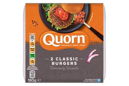 meat free quorn classic burger