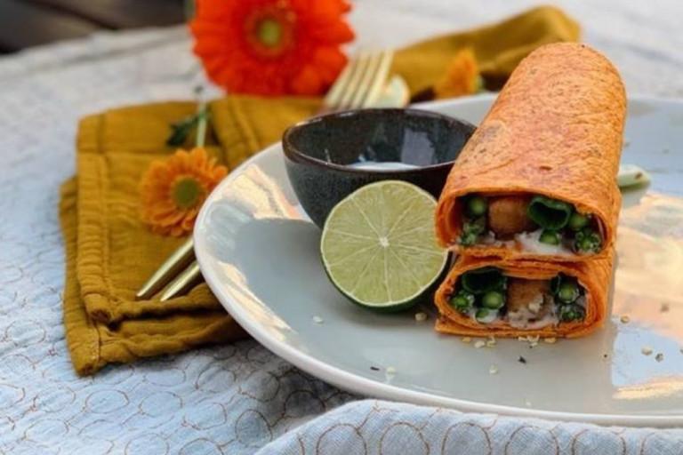 Vegetarische Oranje Wrap Speciaal voor Koningsdag