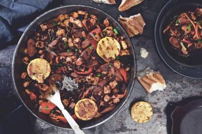 Vegetarisk Jambalaya med Quorn Bitar