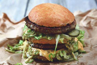 Vegetarisk (lakto ovo) burgare - Manges Big Quorner -recept
