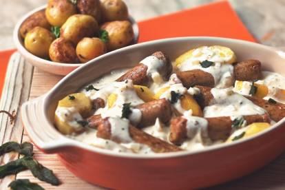Quorn Creamy Sausage Casserole