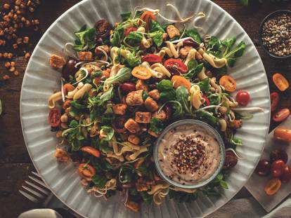 Picnic salad with Quorn pieces
