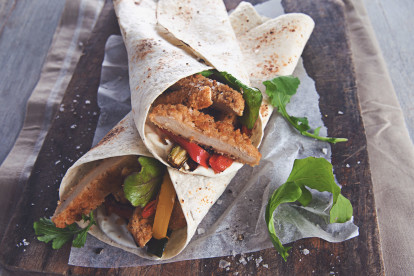 Quorn Southern Fried Burger Wrap
