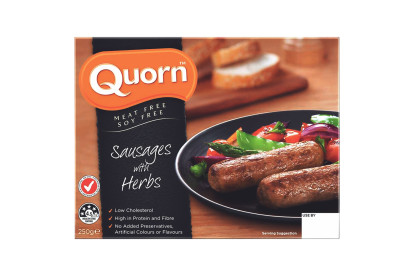 Quorn Pepper and Herb Sausages
