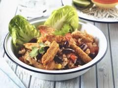 Mexikanische Gemüsepfanne mit Quorn Vegetarische Fajita-Streifen