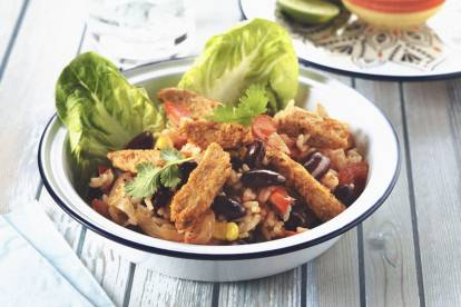 mexican stir fry with quorn fajita strips vegetarian recipe