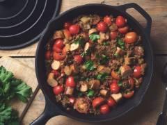 Quorn Sausages & Lentil Salad