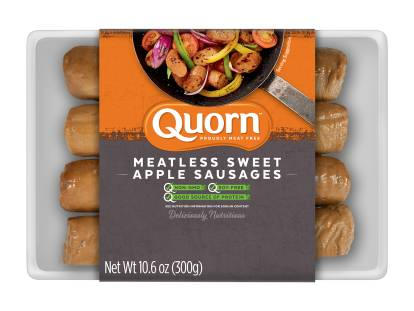 quorn meatless sweet apple sausages