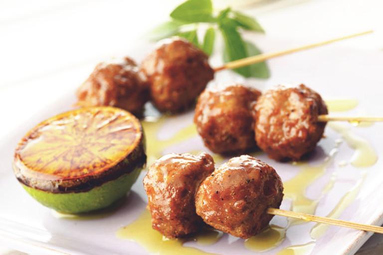lakto-ovo vegetariskt recept - Grillade Quornbullar i lime