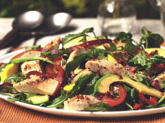 Quorn Fillet Caesar Salad made with Quorn Fillets or Quorn Pieces.