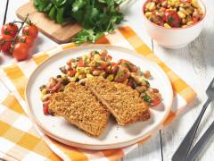 Quorn Spicy Tortilla Escalopes with Mexican Bean Salad