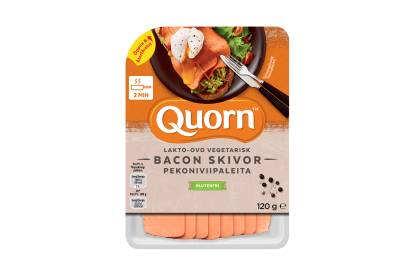 Quorn vegetariska bacon skivor