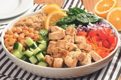quorn meatless pieces & quinoa power bowl vegetarian recipe