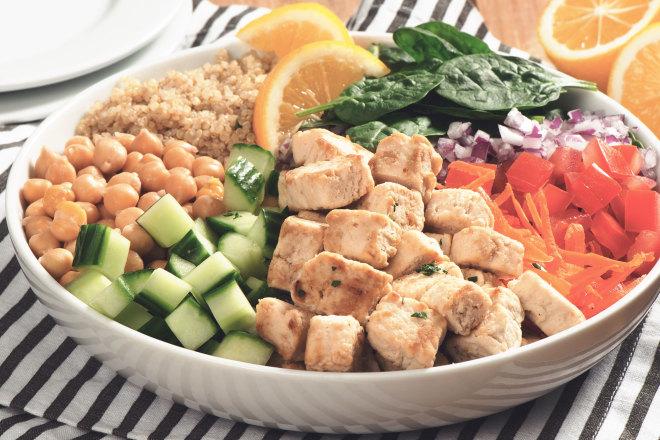 Quorn Meatless Chicken & Quinoa Power Bowl