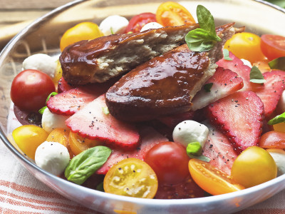 Quorn Meat Free Pimms Glazed Fillets with Summer Salad