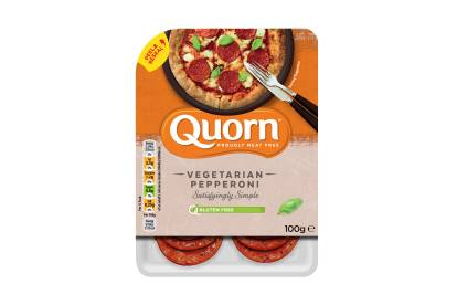 quorn vegetarian pepperoni pizza topping
