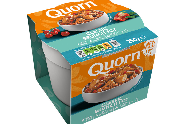 Quorn Classic Brunch Pot in Brand Packaging