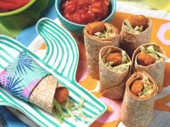 quorn fishless finger wrap bites quick vegetarian recipe