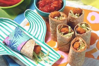 Mini-wraps med Quorn Vegan Panerade Pinnar
