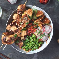 BBQ Teriyaki Quorn Fillets and Pineapple Buddha Bowl
