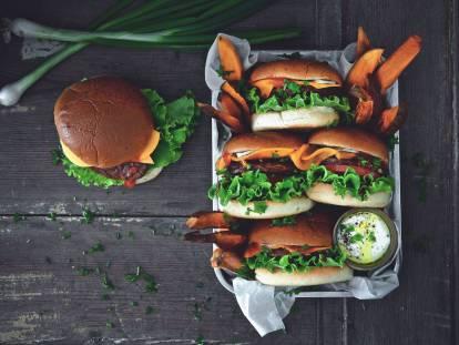 Vegan Quorn Burger in Brioche bread