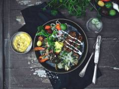 Vegan Quorn Sausages with roasted vegetables