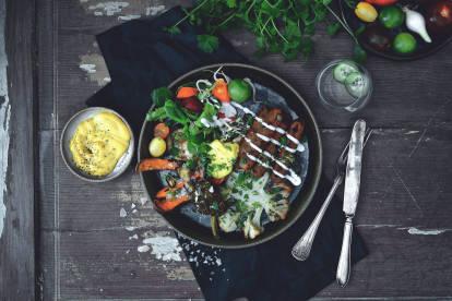 Quorn Chipolata med rostade grönsaker