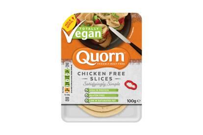 quorn vegan chicken free slices