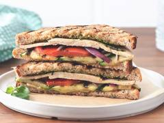 Quorn Turkey-Style Pesto Panini with Grilled Vegetables