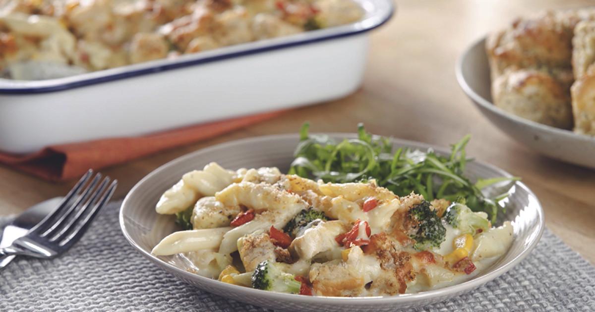 Broccoli Sweetcorn Pasta Bake Vegetarian Recipes Quorn