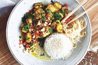 Vegetarisk currygryta medkokosmjölk