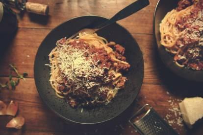 Recept på lättlagad lakto-ovo vegetarisk spagetti Bolognese