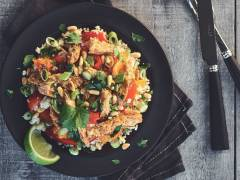 warm & spicy couscous salad with quorn vegan fillets recipe