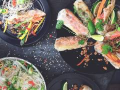 Vegetariska vårrullar med Quor