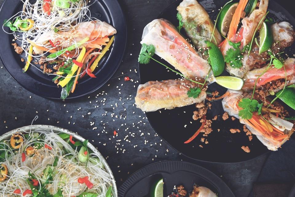 Vegetariska vårrullar med Quorn Färs