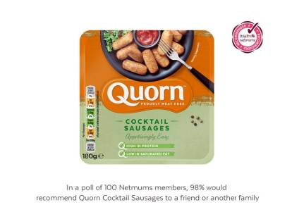 Quorn Cocktail Sausages gain Netmums approval